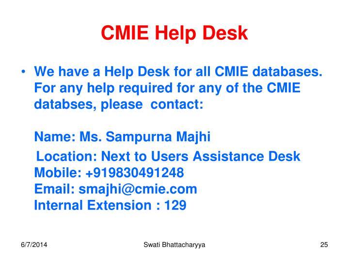 CMIE Help Desk