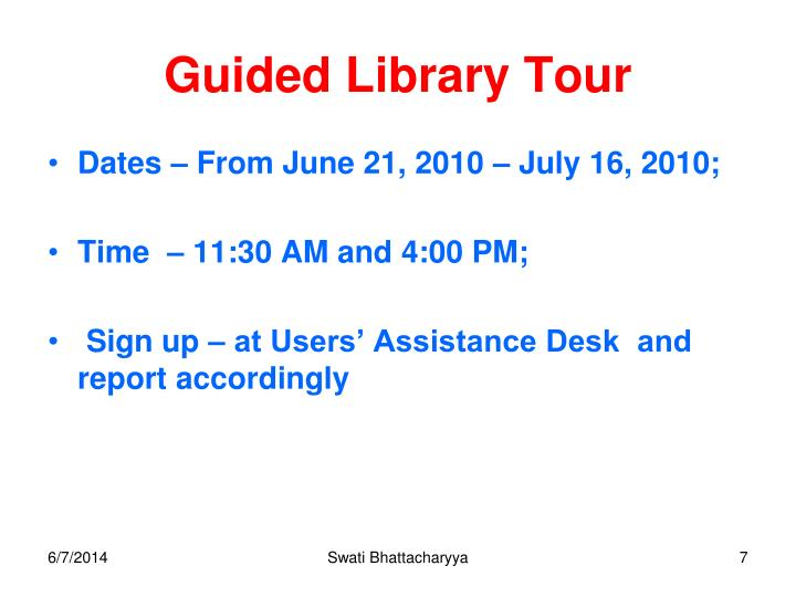 Guided Library Tour
