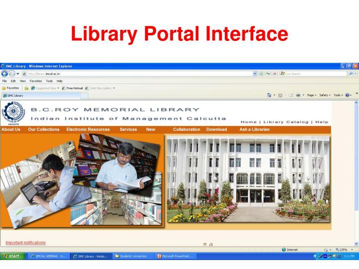Library Portal Interface