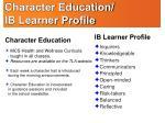 character education ib learner profile