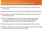 philosophy background