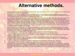 alternative methods1
