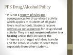 pps drug alcohol policy