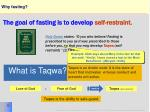 why fasting