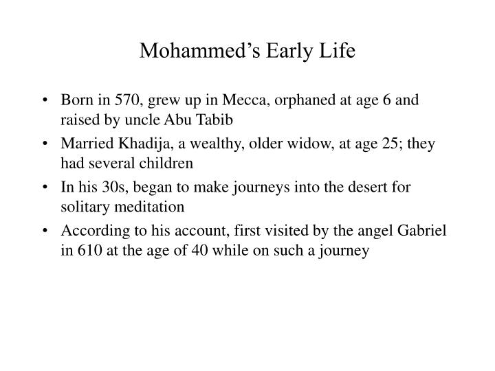 mohammed s early life n.
