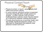 physical contact touch