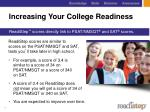 increasing your college readiness