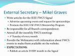 external secretary mikel graves
