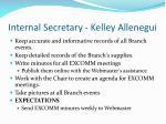 internal secretary kelley allenegui