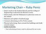 marketing chair ruby perez