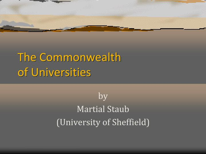 the commonwealth of universities n.