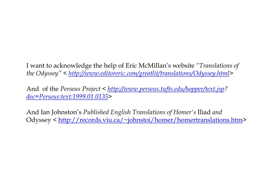 I want to acknowledge the help of Eric McMillan's website