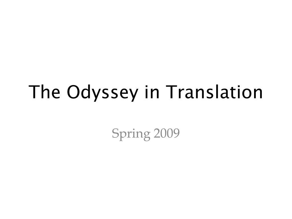 The Odyssey in Translation