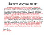 sample body paragraph1