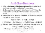 acid base reactions