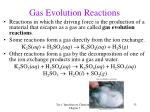 gas evolution reactions