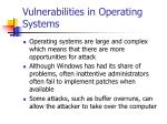 vulnerabilities in operating systems