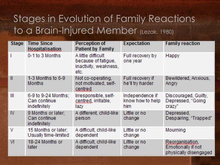Stages in Evolution of Family Reactions to a Brain-Injured Member