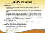 ccgps transition