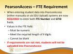 pearsonaccess fte requirement