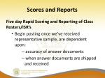 scores and reports
