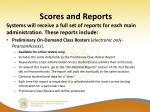 scores and reports1