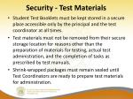 security test materials