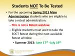students not to be tested1