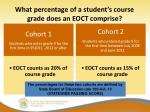 what percentage of a student s course grade does an eoct comprise