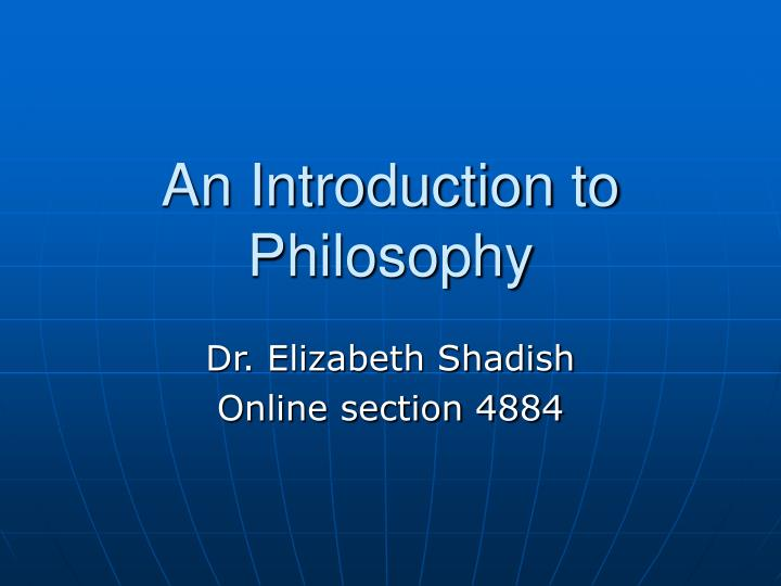 an introduction to philosophy n.