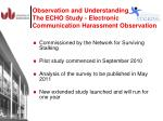 observation and understanding the echo study electronic communication harassment observation