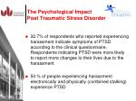 the psychological impact post traumatic stress disorder