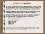 human factor issues