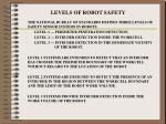 levels of robot safety