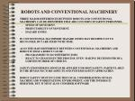 robots and conventional machinery