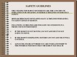 safety guidlines
