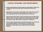 safety sensors and monitoring