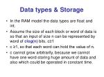 data types storage