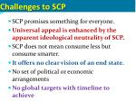 challenges to scp