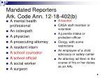 mandated reporters ark code ann 12 18 402 b