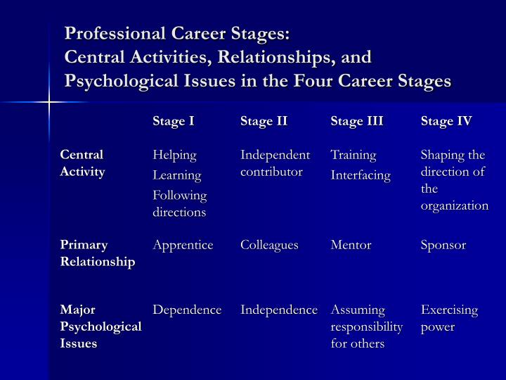Professional Career Stages:
