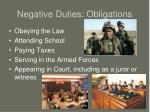 negative duties obligations