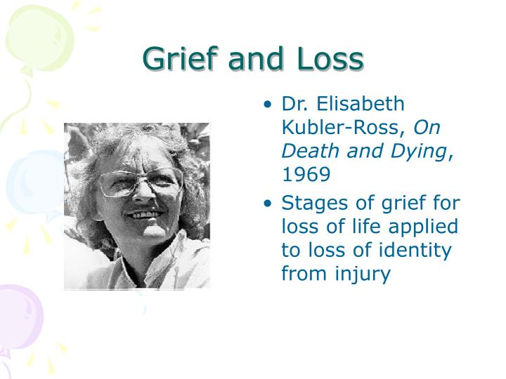 the five stages of grief in on death and dying by elisabeth kubler ross Elisabeth kübler-ross and the author of the groundbreaking book on death and dying proposed the now famous five stages of grief as a pattern of.