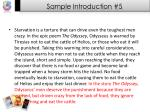 sample introduction 5