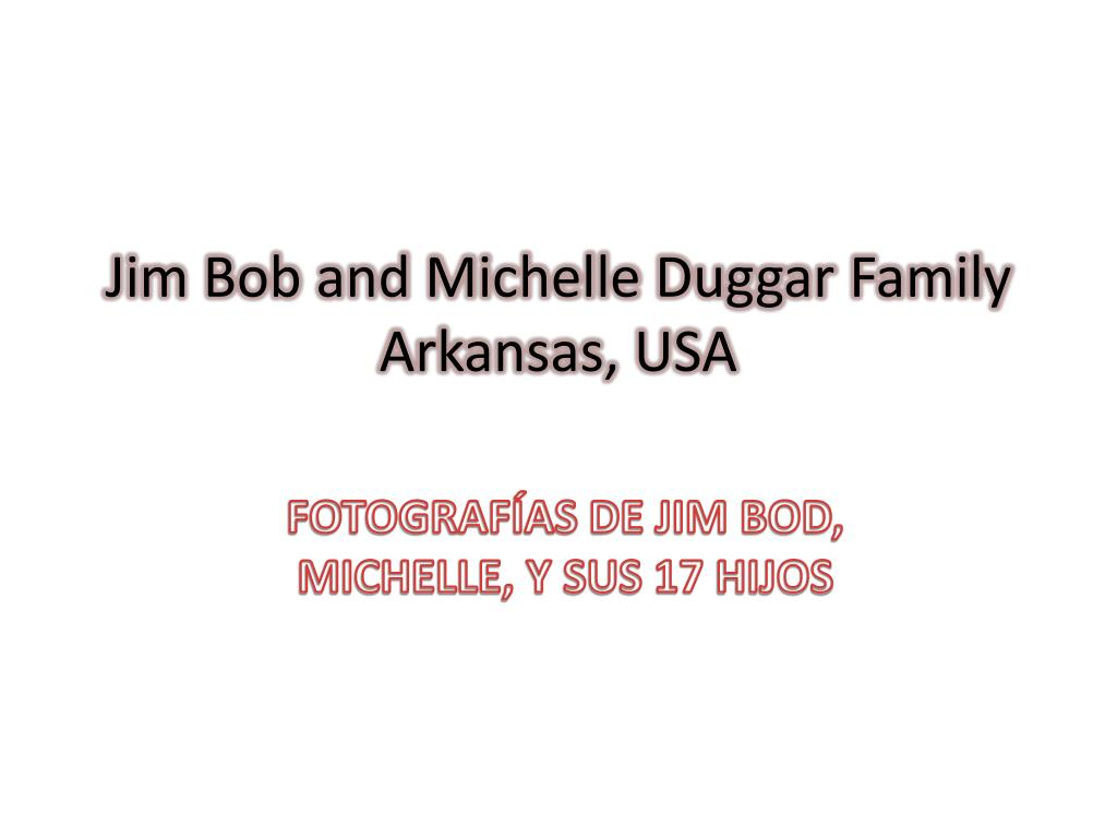jim bob and michelle duggar family arkansas usa l.