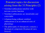 potential topics for discussion arising from the 33 principles 2