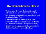 recommendations slide 2