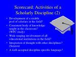 scorecard activities of a scholarly discipline 2