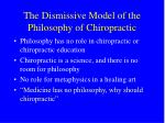 the dismissive model of the philosophy of chiropractic