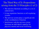the third way ci propositions arising from the 33 principles 1 of 2